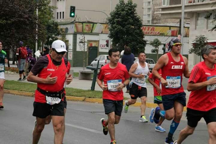 Erick Carvajal en el Maratón de santiago 2016