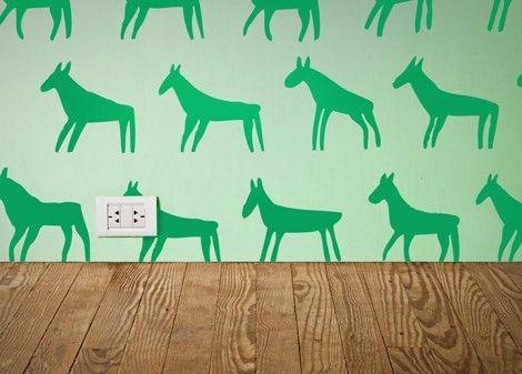 zelená - Dekorace na stěnu Mula