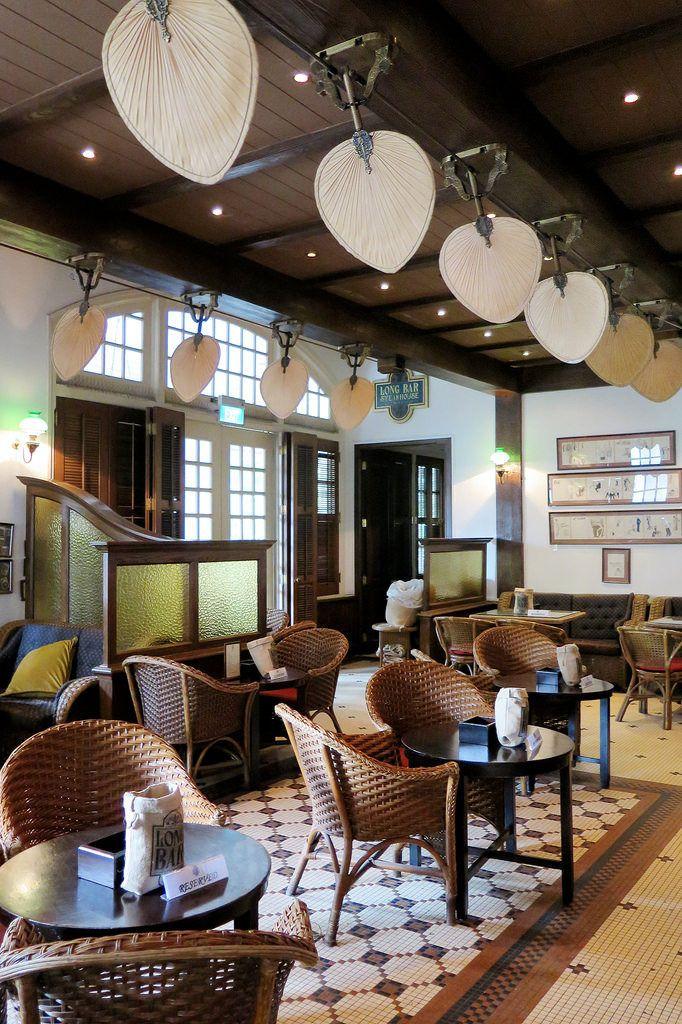 The Long Bar at Raffles Hotel.