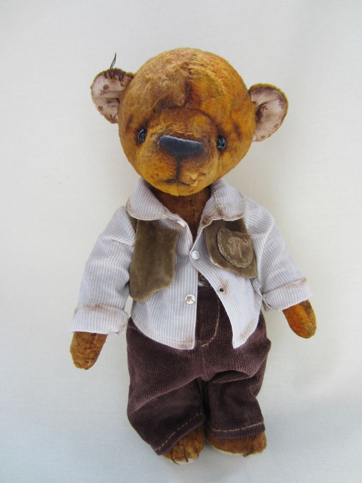 Мишка Потап, винтаж,  мишка из плюша,teddy, teddy bears, hand made, винтажный мишка, плюшевый мишка, любимая работа, ретро