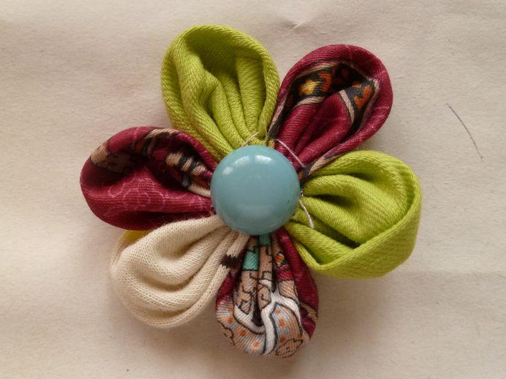 kanzashi  fiori di stoffa giapponesi