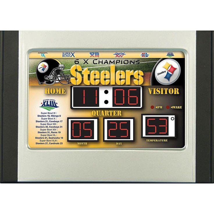 Officially Licensed NFL Scoreboard Desk Clock - Pittsburgh Steelers