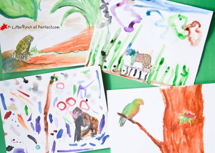 Rainforest Animals: Printable Coloring Prompts for Kids -