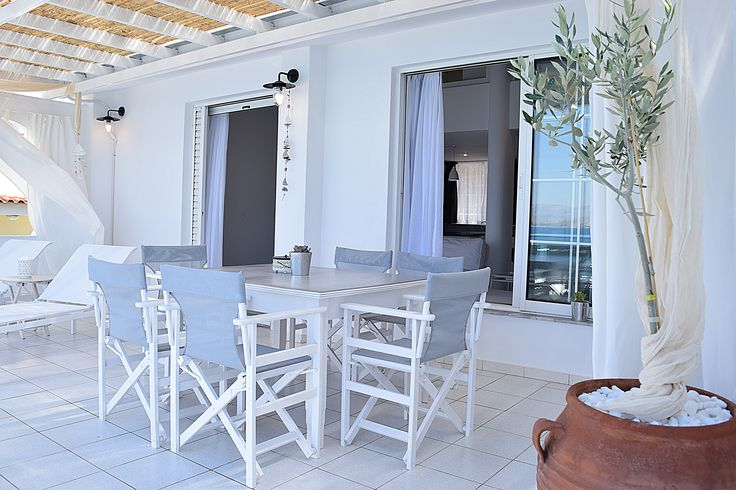 Meli #Holiday Apartments & Villas. Balcony in Unique Loft #Holiday Apartment in #Kiveri village close to #Nafplion #Greece
