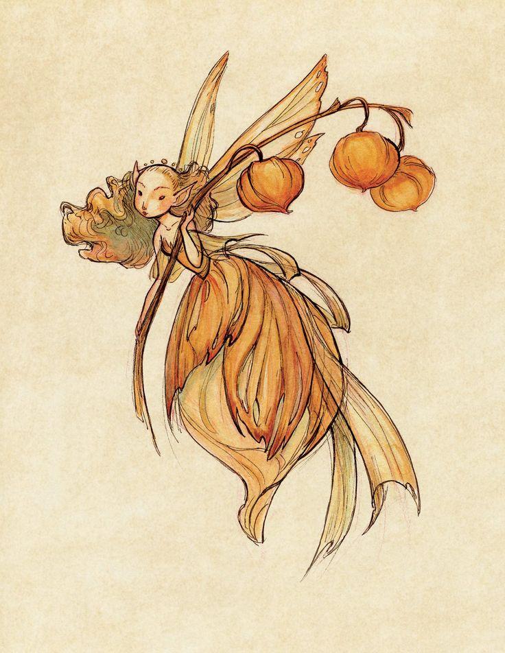 Midsummer Fairies: Lantern SMALL 8.5x11 Art Print. $20,00, via Etsy.