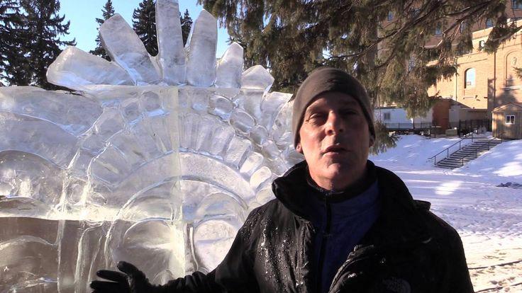 Local ice carver sculpts tribute to La Loche