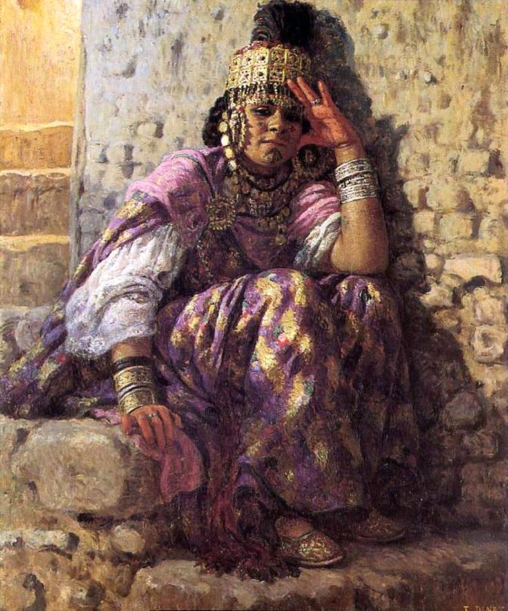 Étienne Dinet (French, 1861-1929). An Ouled Nail Woman