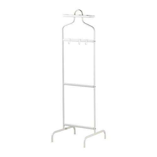 MULIG Kleiderständer IKEA 3 Haken für Gürtel, Schals usw. und eine abnehmbare Schale für Accessoires wie Uhren, Schmuck etc.