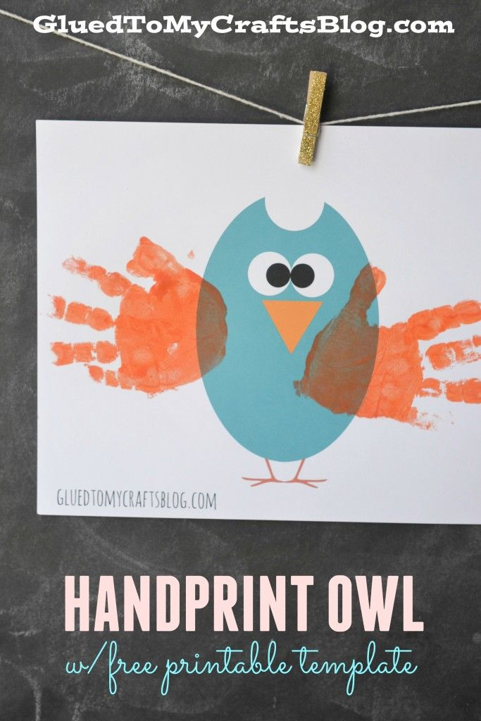 Handprint Owl w/free printable template