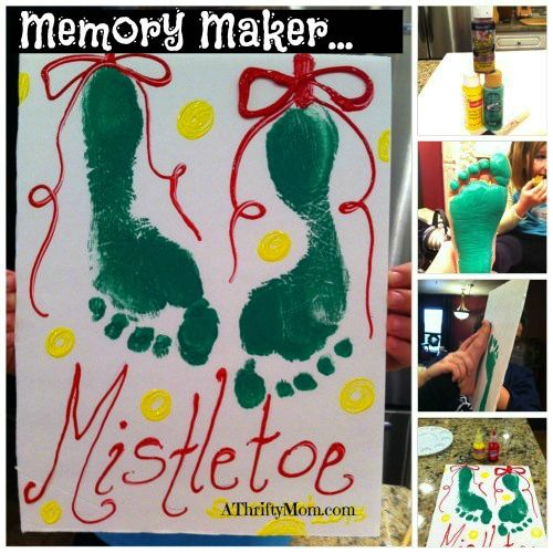 KId  CRAFT for Christmas, Mistletoe craft idea, sure to make you smile.