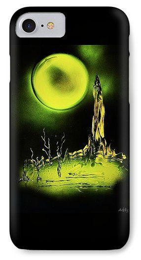 Land Of Rituals IPhone 7 Case Printed with Fine Art spray painting image Land Of Rituals by Nandor Molnar (When you visit the Shop, change the orientation, background color and image size as you wish)