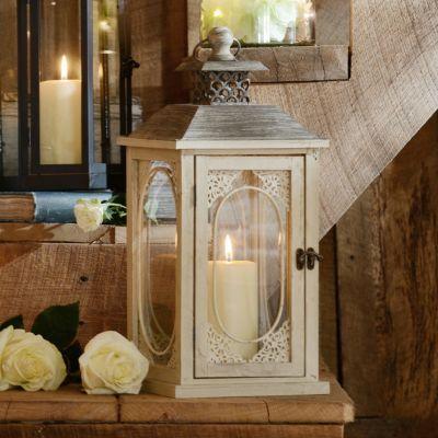 Antiqued Cream Lantern | Kirkland's