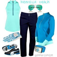 Ladies Golf  Ensemble for the golfing vacation.