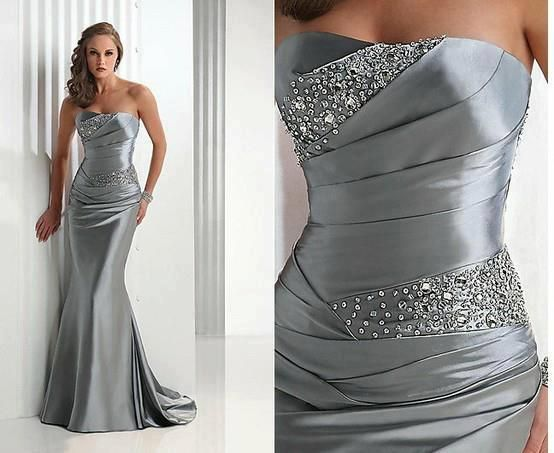 Shinning grey wedding dress for ladies >>>>> Great dress!