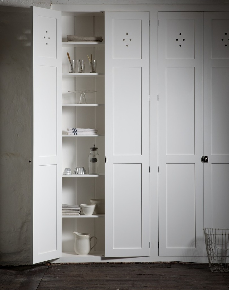 The Classic Fitted Pantry Cupboards by deVOL at our Cotes Mill showrooms.