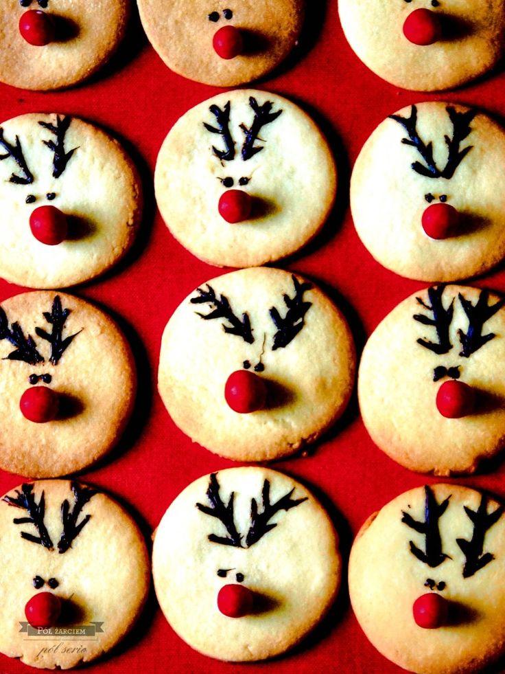 Kruche ciasteczka waniliowe  Vanilla reindeer cookies  polzarciempolserio.pl