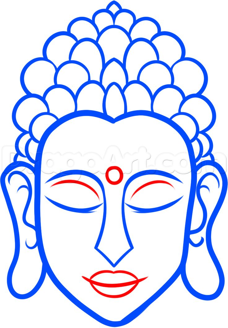 how to draw buddha easy step 6