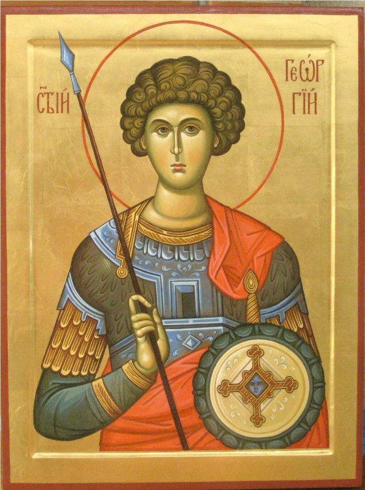икона святого Георгия.painter Vladimir Guk