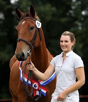 Annie (Alderik x Brandt), overall champion national inspection. Groningen horse.: