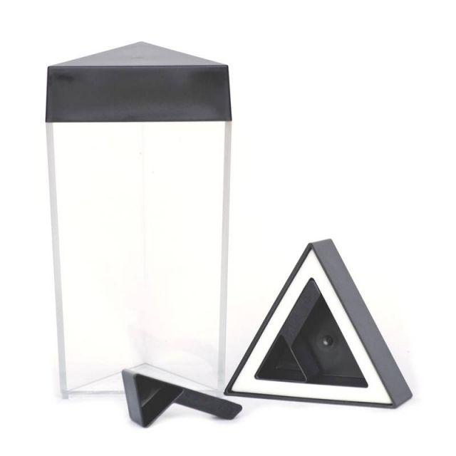 Trójkątny pojemnik z miarką, czarny, 0,6 l, OL-440