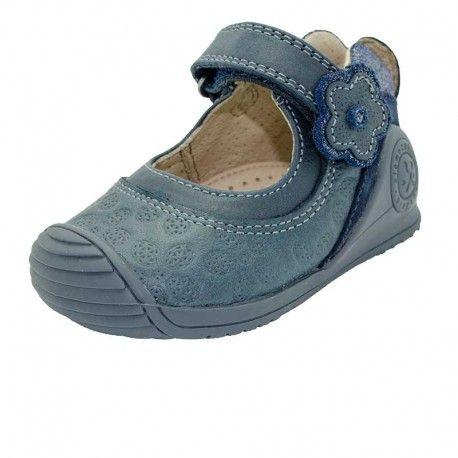 Inch Blue niñas niños funda de piel suave suela zapatos de para cochecito de bebé, color oscuro denim, color azul, talla Niño M 3-4 años 17,5 cm, Claro Bolsa