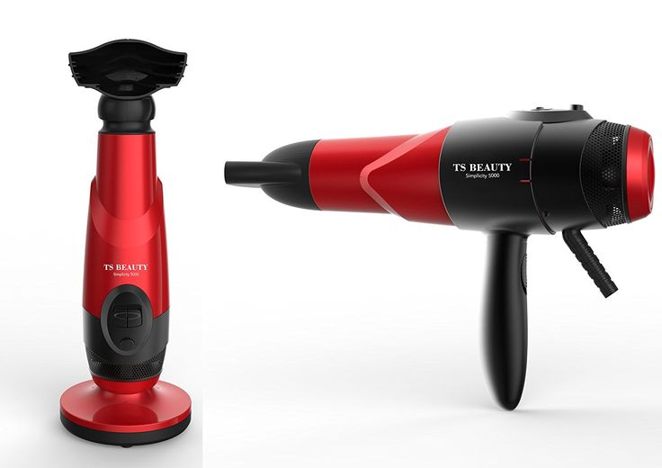 New TS Beauty simplicity 5000 Hands Free Counter Top Nano Fusion Hair Dryer (Red) * See this great product.