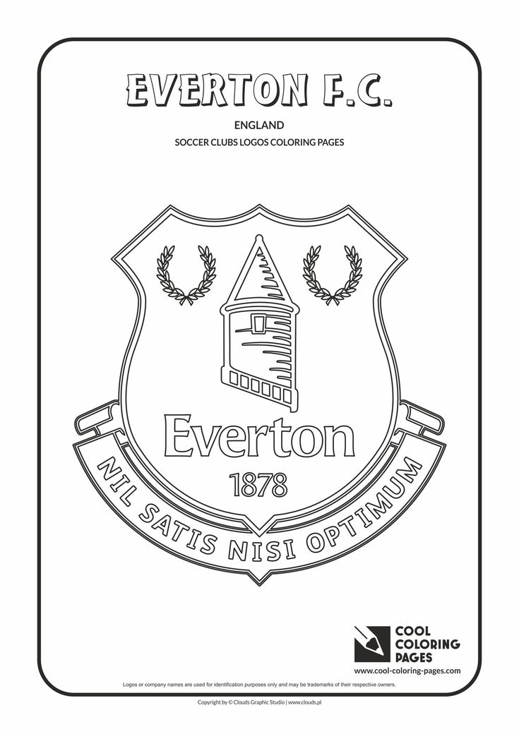 Everton F.C. logo coloring / Coloring page with Everton F.C. logo / Everton F.C…