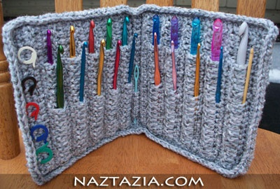 For the Love of Crochet / Crochet hook holder case: Fun Recipes, Ideas, Cases Projects, Holders Cases, Free Patterns, Crochet Hooks Cases, Knits Needle, Hooks Holders, Crafts