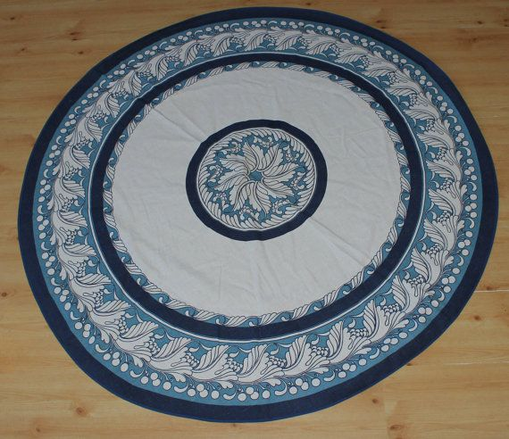 Fantastic vintage 70s Tablecloth Säby with by ThreeCrownsRetro