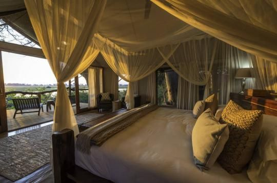 View from private tented room at Tubu Tree Camp (Okavango Delta, Botswana). If that looks like a place you wanna go to - just let us know: info@gondwanatoursandsafaris.com