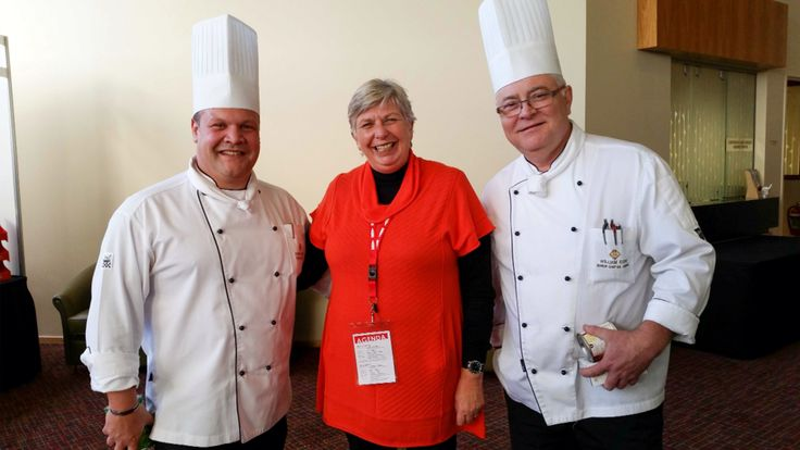 #Saffron lady accompanied by two great chefs. Wrest Point Executive Chef Andre Kropp and Senior Chef William Espe. - #AndreKropp  Point Revolving Restaurant At Wrestpoint Casino     #WrestPointRevolvingRestaurant