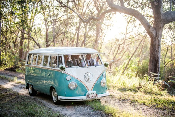 surprise kombi as a bridal car, they loved it Wedding detail Stradbroke Island Photography