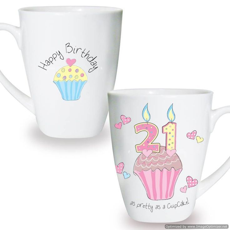 Personal Touch Gifts - Cupcake Mug 21st Birthday, £7.99 (http://personaltouchgifts.co.uk/cupcake-mug-21st-birthday/)