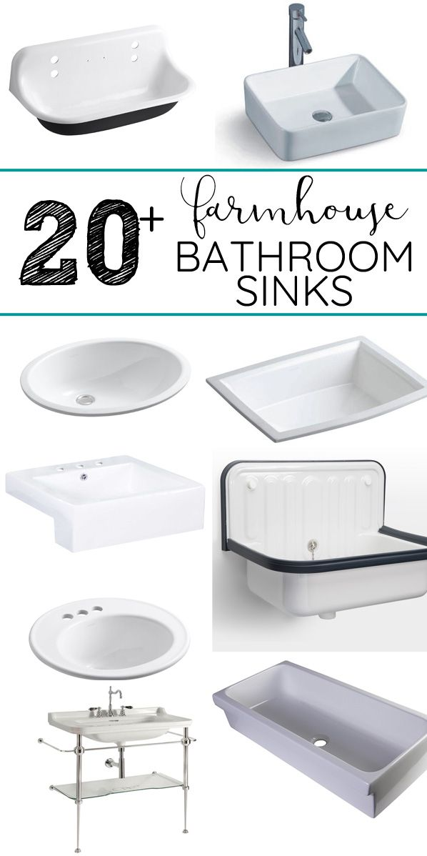 20+ Beautiful Farmhouse Bathroom Sinks