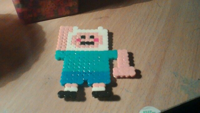 Hama beads Finn adventure time!!!