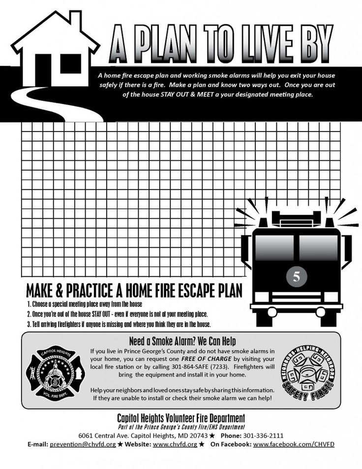 45 best fire safety images on pinterest fire safety for How to make a home fire escape plan