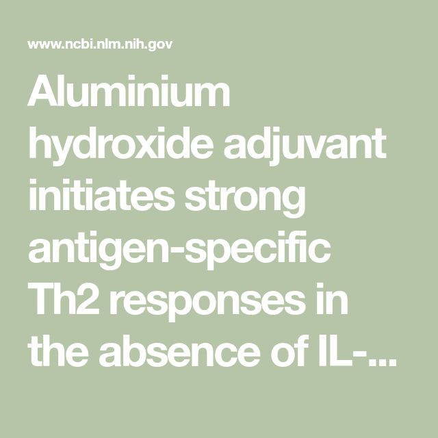 Aluminium hydroxide adjuvant initiates strong antigen-specific Th2 responses in the absence of IL-4- or IL-13-mediated signaling.  - PubMed - NCBI