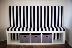 Comment transformer une étagère KALLAX (ou EXPEDIT) d'Ikea en une confortable banquette avec dossier