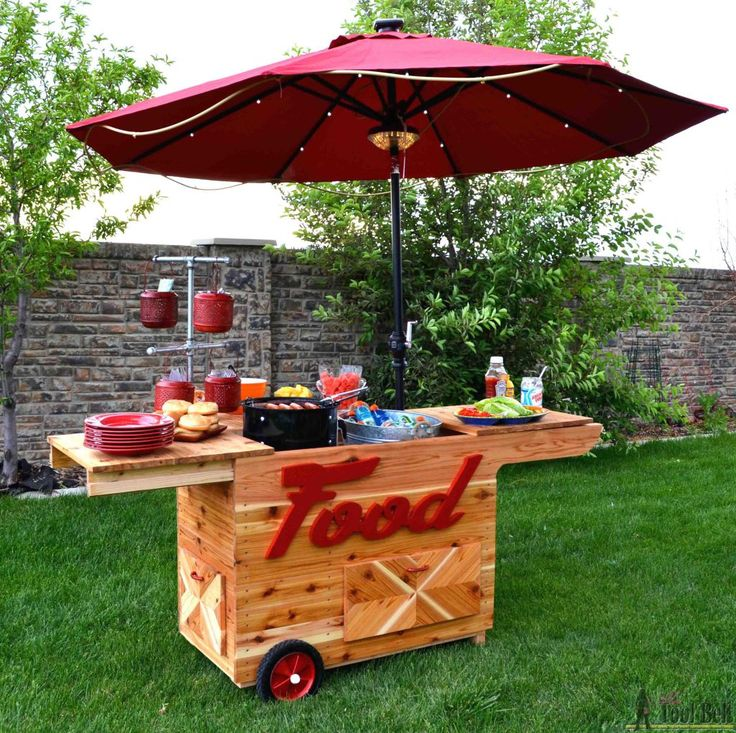 Summer parties are about to get so much cooler!   Build and customize a party station with free plans from Woodworkers Journal and Ryobi Nation.
