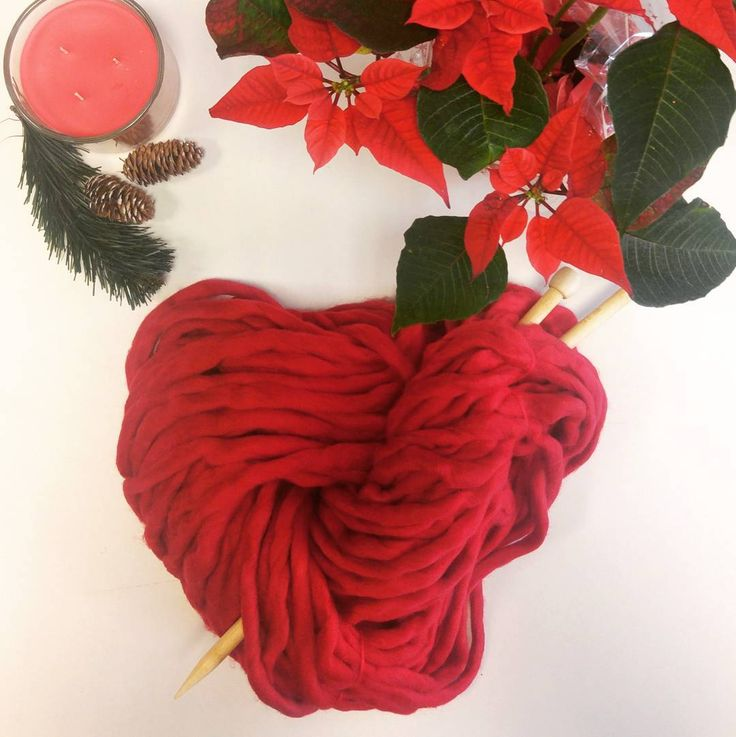 How about a gift of inspiration this Christmas? Red superchunky Squiggly yarn available for fast delivery frim Irika.