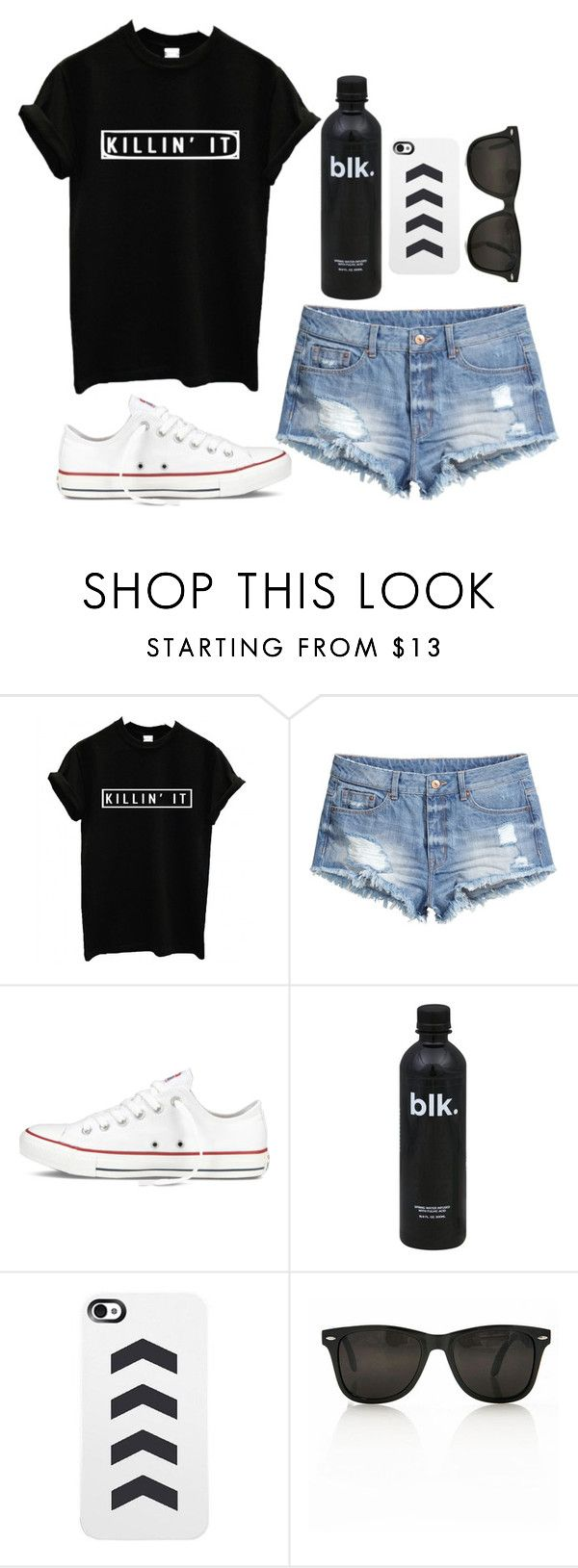 """Killin' It"" by twaayy ❤ liked on Polyvore featuring H&M and Converse"