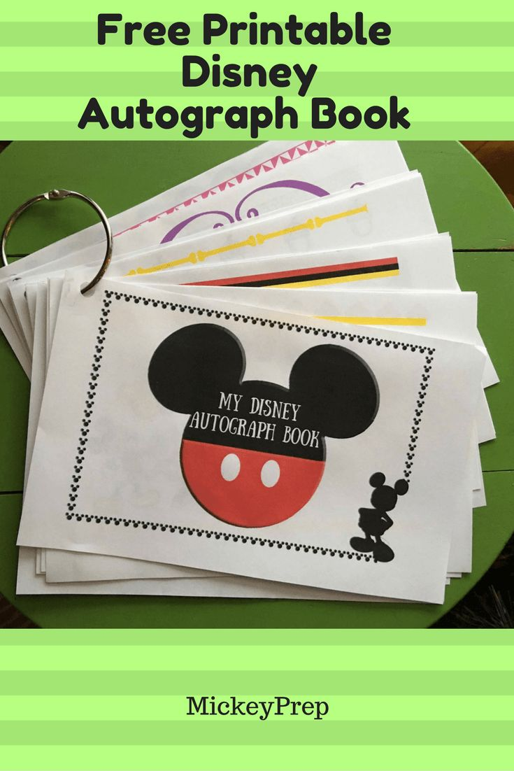 Free Printable Disney Autograph Book For An Upcoming Disney World Trip