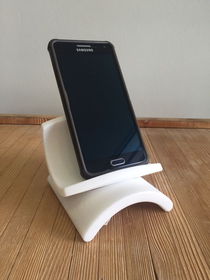 Phone holder made of white marble