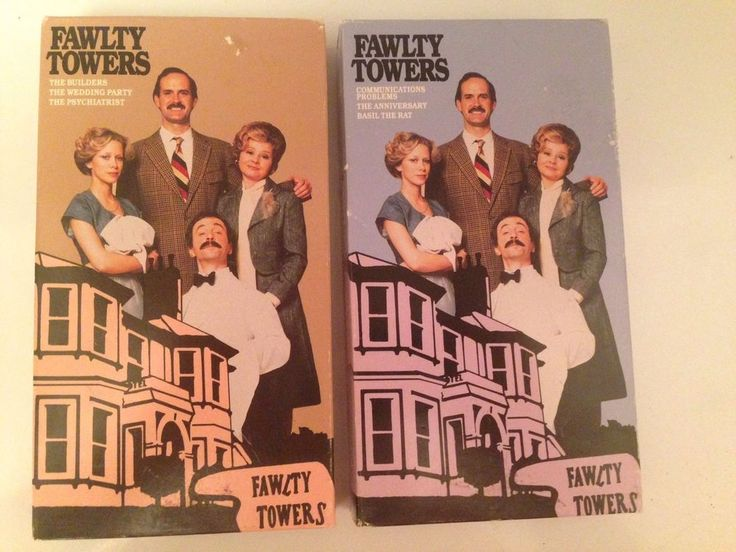 Fawlty Towers Vhs John Cleese Connie Booth Basil The Rat Psychiatrist