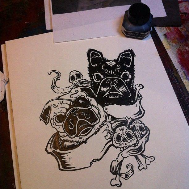 9 best pug tattoos images on pinterest pug tattoo pug dogs and pugs. Black Bedroom Furniture Sets. Home Design Ideas