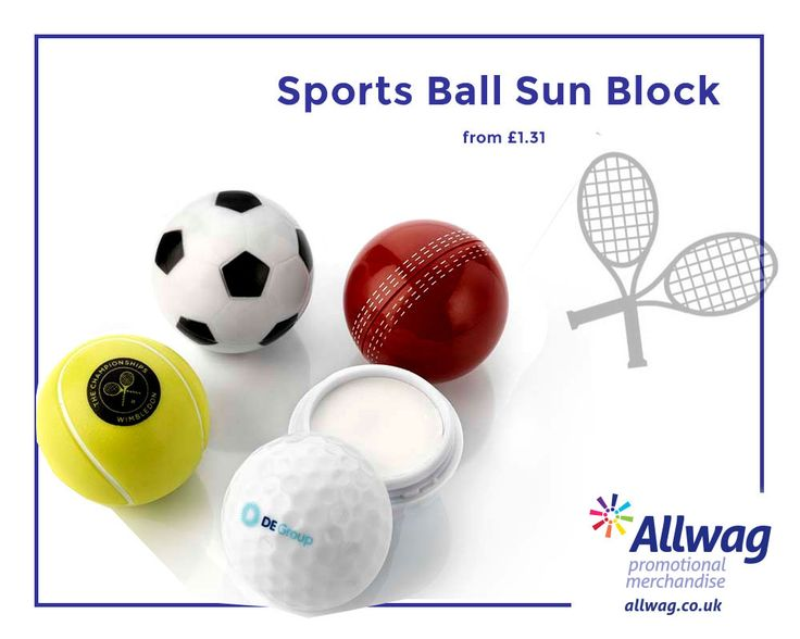 Our Sports Ball Sun Block is a quirky branded sunscreen that's ideal for sports merchandise! Our pocket sized branded sun screen is fragrance free and water resistant, providing you with the ultimate protection against both summer and winter sun!
