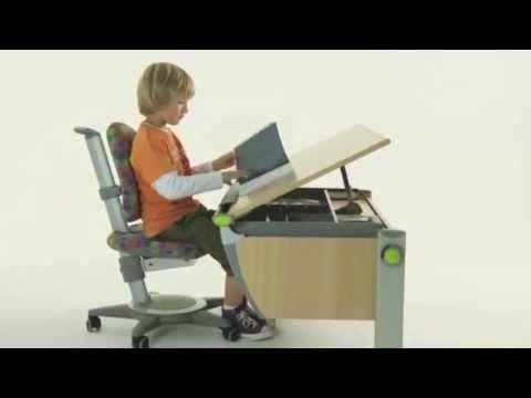 moll Runner Ergonomic Study Table for Children - YouTube