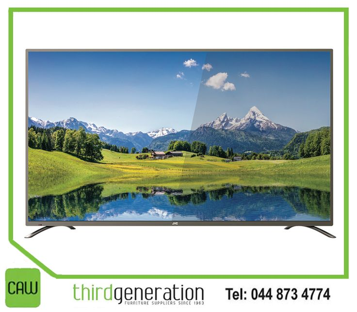 "Complete your entertainment set-up with this LED 75"" #JVC UHD smart TV from #ThirdGenerationCAW. Visit us in-store or contact us on 044 873 4774."