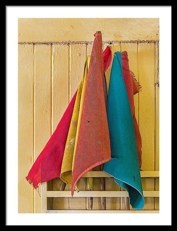 Old Railroad Signal Flags In Caboose Framed Print in 2019
