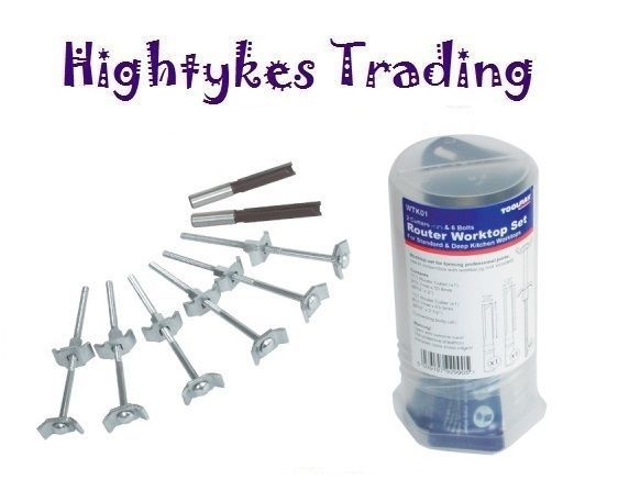 WORKTOP CONNECTOR BOLTS Kitchen Clamps Jointers & router cutters #hightykes